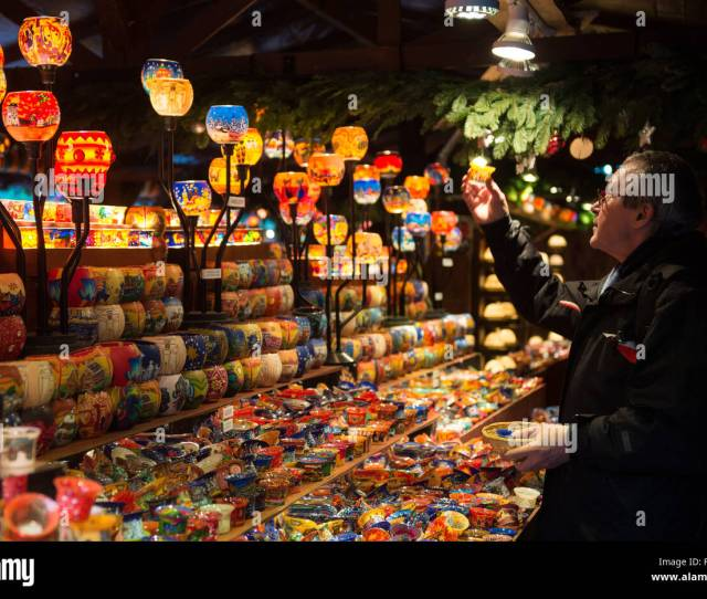 A Visitor Looks At Tealights On A Stall At The Christmas Market In Stuttgart Germany  Photo Marijan Murat Dpa Alamy Live News