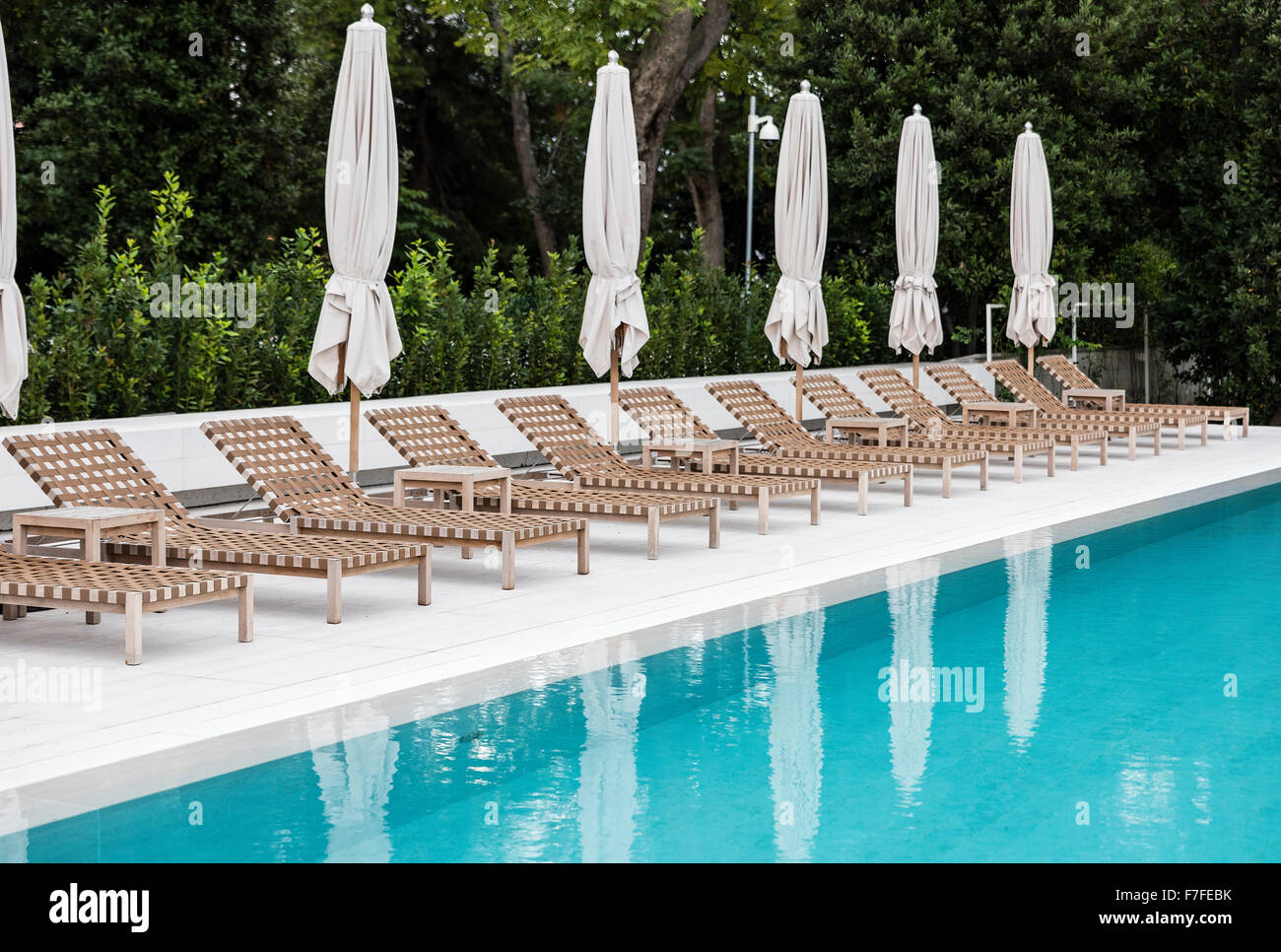 poolside lounge chairs retro high babies at an upscale pool stock photo 90695015 alamy