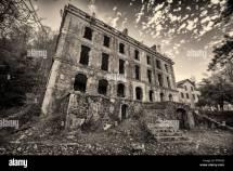 Derelict Hotel Door Stock &