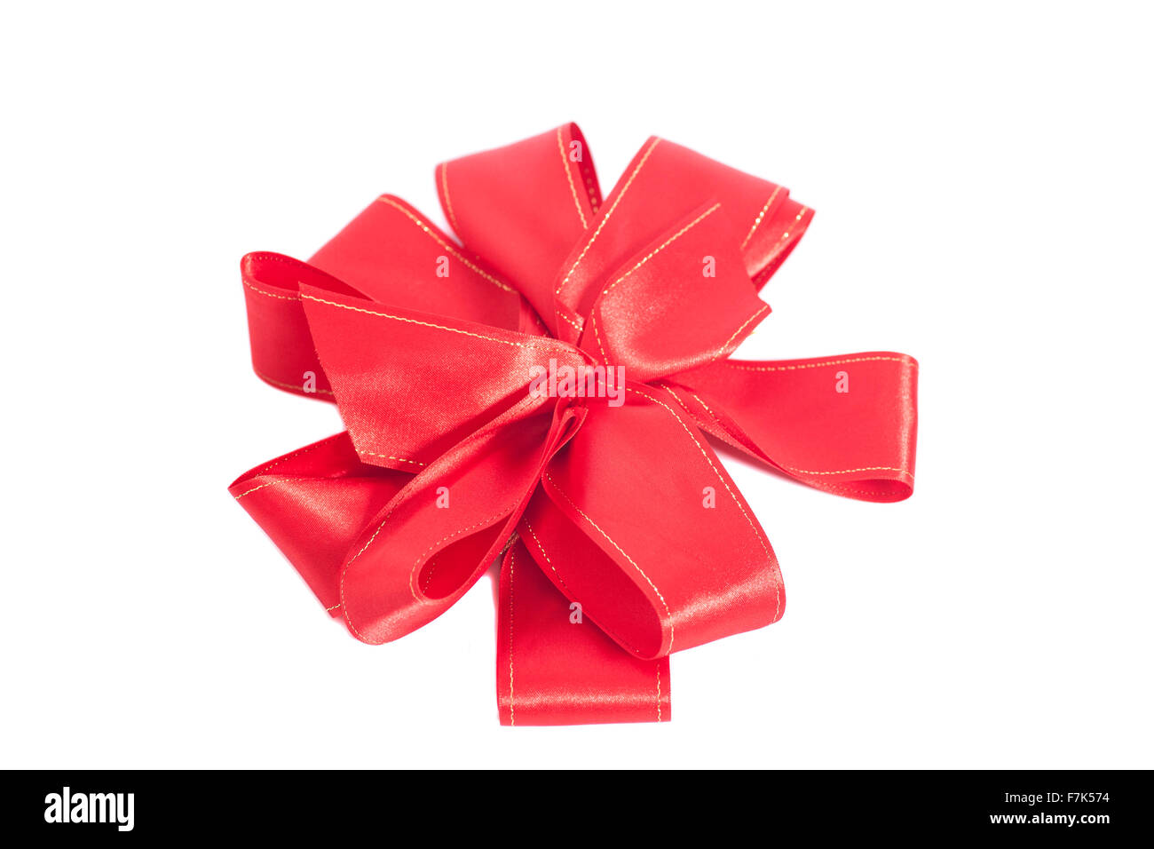 big red satin gift