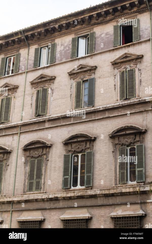 Rome Italy. Typical Architectural Details Of City