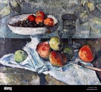Painting titled 'Fruit Bowl, Glass and Apples' by Paul ...