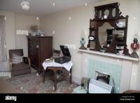 Old fashioned living room, British 1950s style Stock Photo