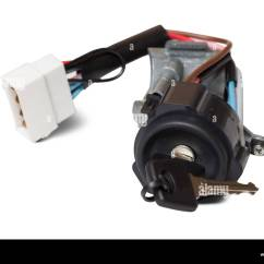 Ignition Switch Deutsch 1997 Jeep Cherokee Wiring Diagram With Key Isolated On White