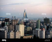 Ryugyong-hotel And Skyline Of Pyongyang North Korea Asia