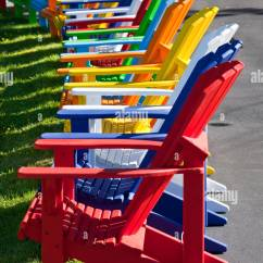 Adirondack Chair Sale Pilates Video Row Of Brightly Coloured Chairs Offered For At The Homebased Business Add A Ron Deck In Dayspring Nova