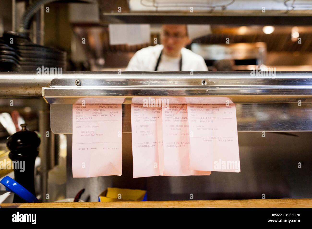 Restaurant Kitchen Order Display