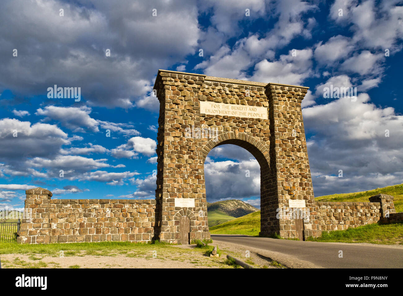 Roosevelt Arch North Entrance Yellowstone National Park