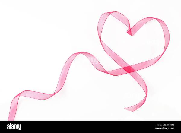 Heart Shaped Ribbon With Copy Space Stock Royalty