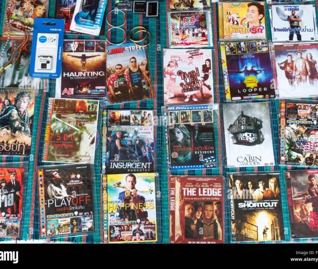 Dvd Store Display In Bangkok Thailand