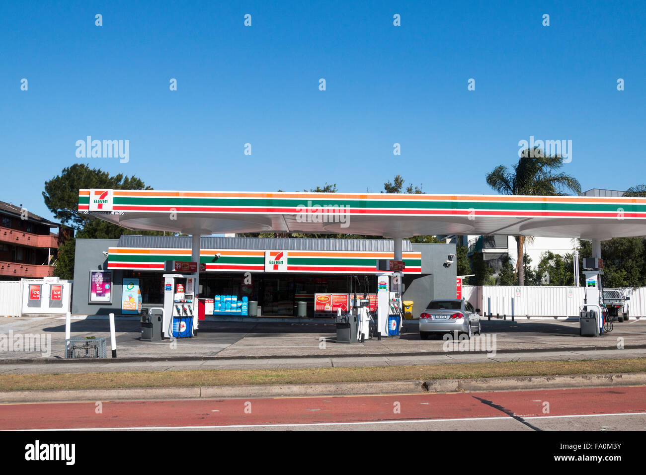 7 Eleven Petrol Fuel Gas Station In Dee Why Suburb Of