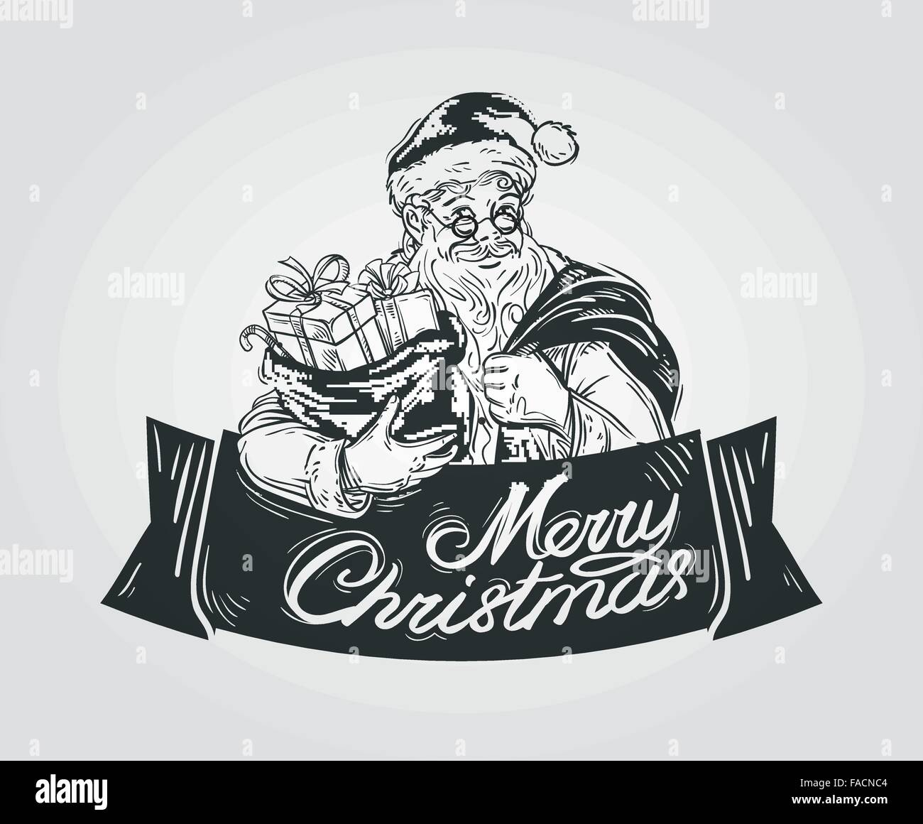 card merry christmas sign