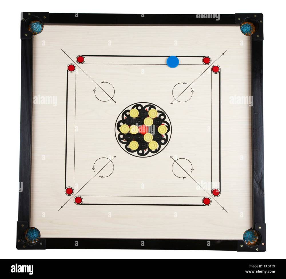 medium resolution of full length of the carom game stock image