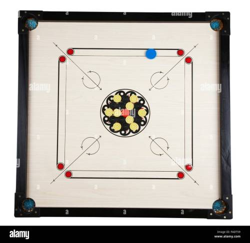 small resolution of full length of the carom game stock image