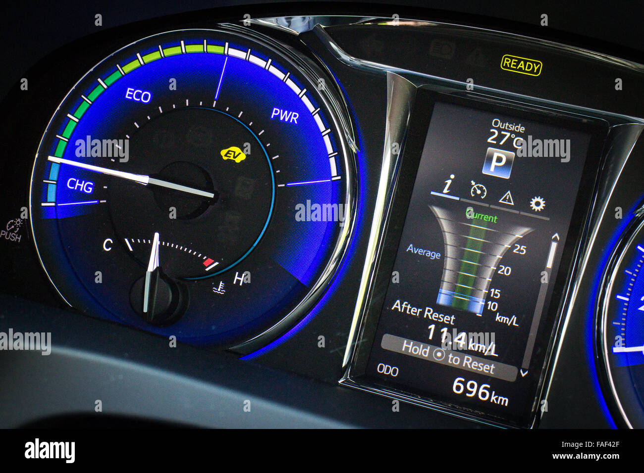 hight resolution of hong kong china oct 27 2014 toyota camry hybrid 2014 dashboard on oct