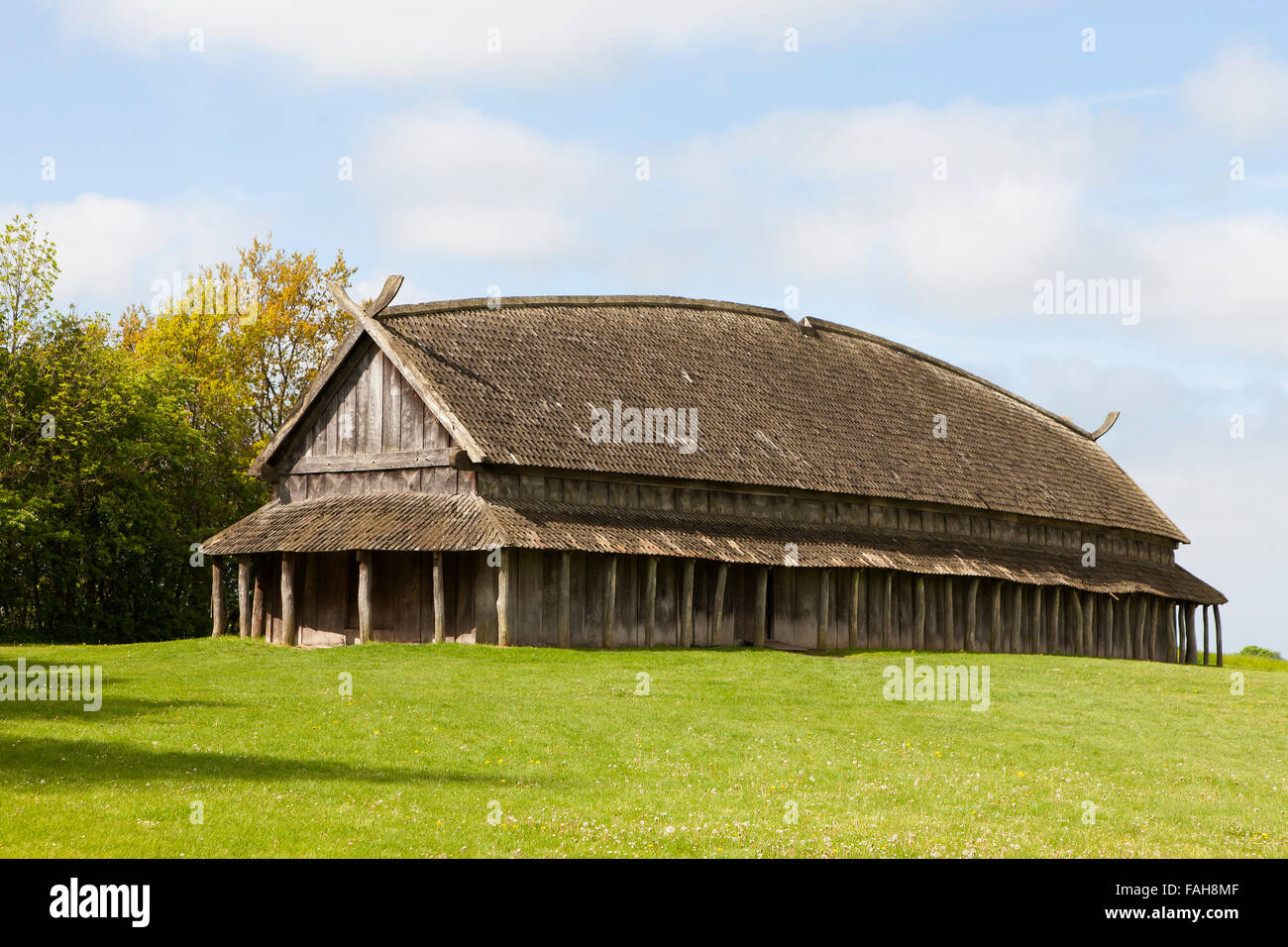 The Reconstructed Viking Longhouse At Trelleborg Slagelse
