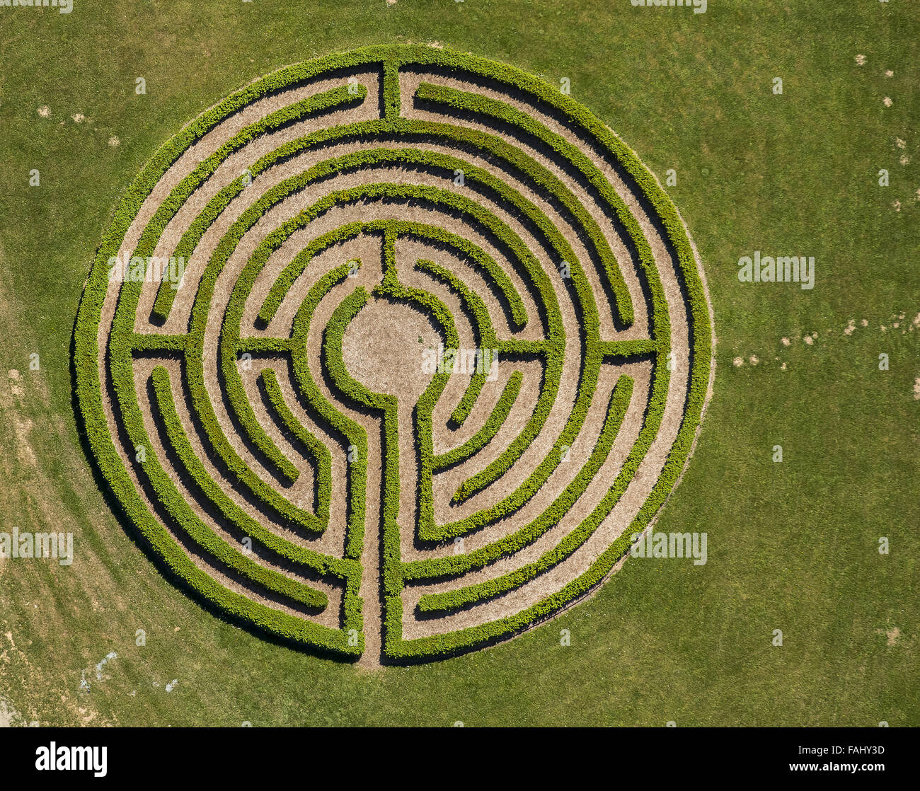 Aerial View Labyrinth Hedge Maze Maze Friends And
