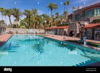 Death Valley, California. Furnace Creek Resort Pool Stock ...