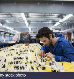 helicopter technician repairing wiring harness stock image [ 1300 x 956 Pixel ]