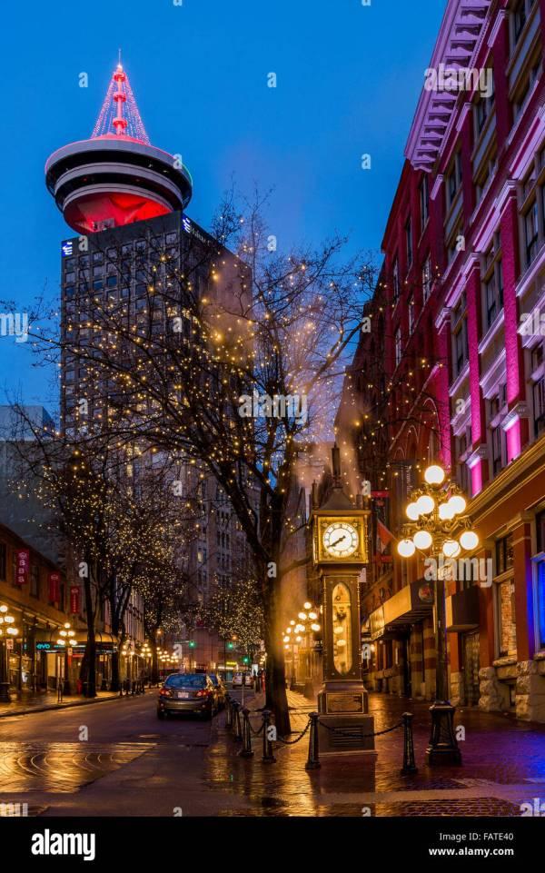 Steam Clock Gastown Vancouver Stock &