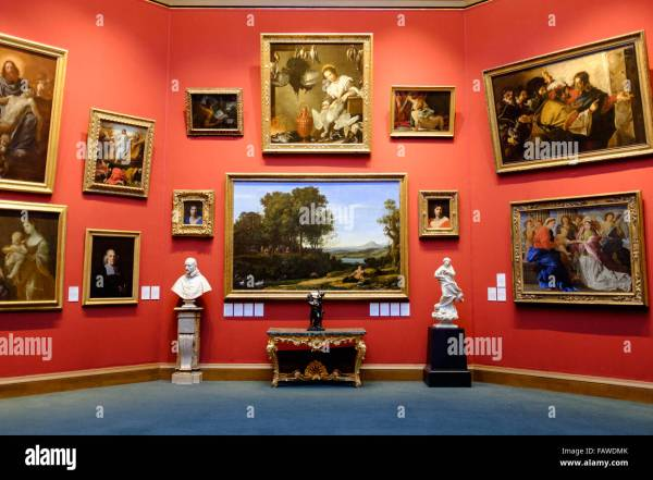 Interior Of Scottish National Art Museum In Edinburgh Stock Royalty Free
