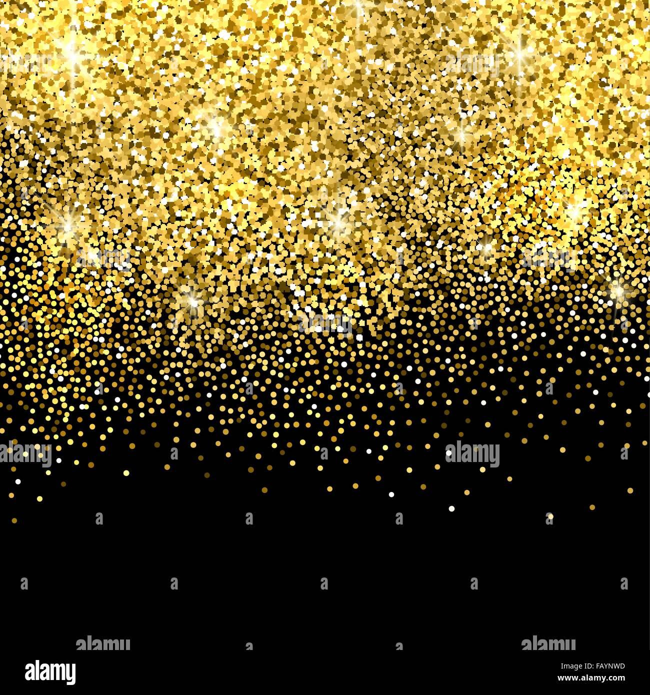 Falling Stars Grunge Wallpaper Gold Glitter Background Stock Vector Art Amp Illustration