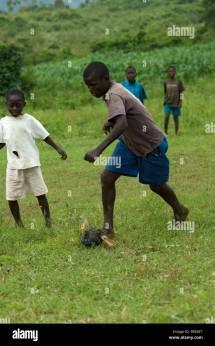 Barefoot Running African Stock &