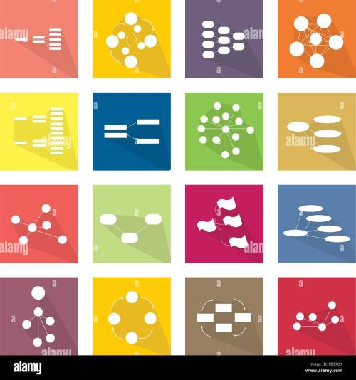 small resolution of flat icons illustration set of 16 family team tree chart diagram flow chart and graph icon labels