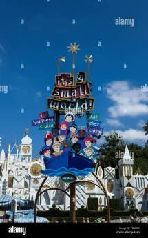 Sign Of ' Small World Ride Disneyland Resort