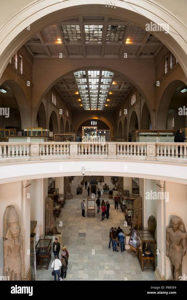 Egypt Cairo Egyptian Museum Interior Stock &