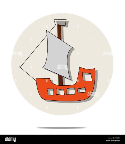 small resolution of illustration of red pirate ship