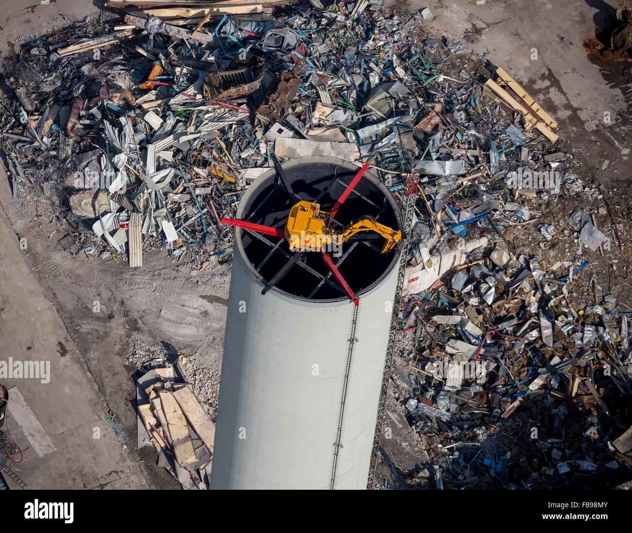 aerial view spider excavator