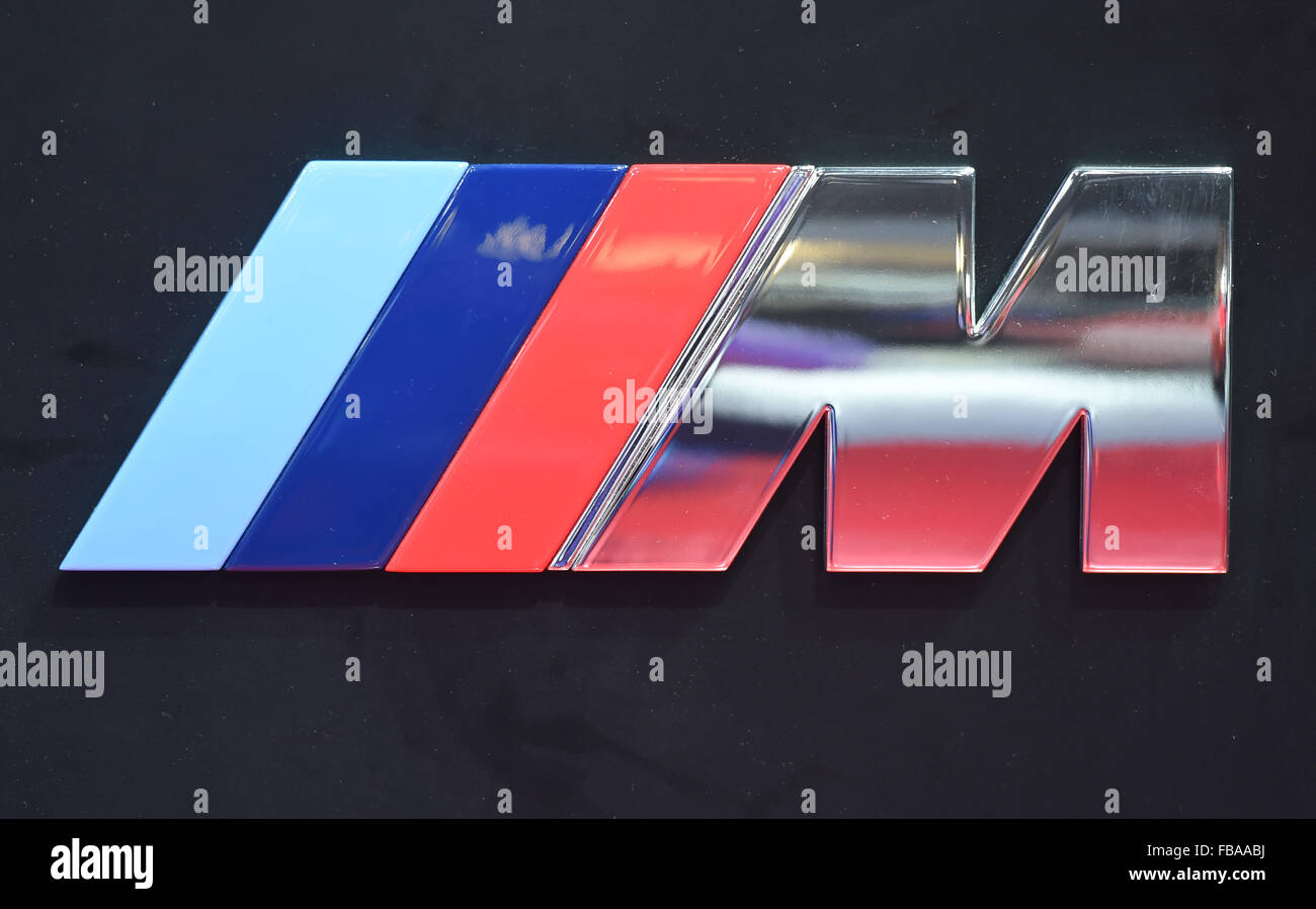 bmw m logo stock