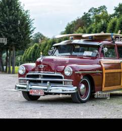 schwetzingen baden w rttemberg germany plymouth woody suburban year of manufacture 1950 classic gala concours d el gance in the baroque castle grounds [ 1300 x 934 Pixel ]