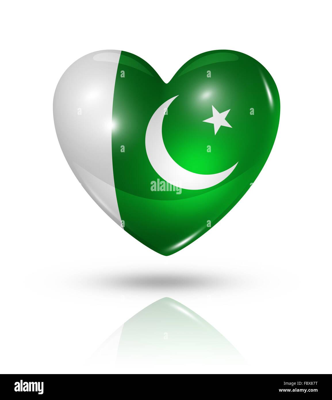 love pakistan heart flag