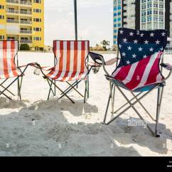 Beach Chairs With Shade Human Touch Spa Chair Three Folding Under On Stock Photo