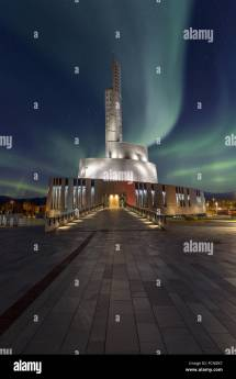 Northern Lights Cathedral With Aurora In Alta Norway