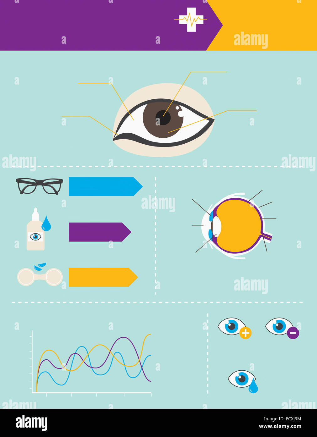 hight resolution of infographic datum related to eye health