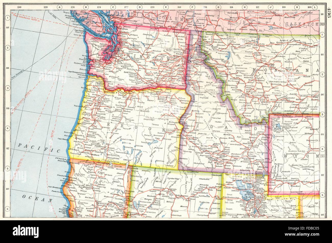 Usa Pacific North West Washington State Oregon Idaho