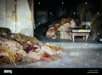 Wool piled up in carpet factory in India Stock Photo ...