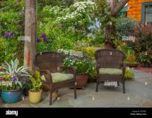 Vashon-maury Island Wa Outdoor Seating Area With Wicker