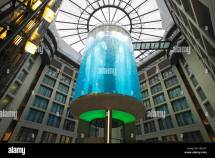 Aquadom Radisson Blu Hotel Berlin Germany Stock