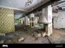 Interior Of Abandoned Grand Hotel In Kupari Tourist