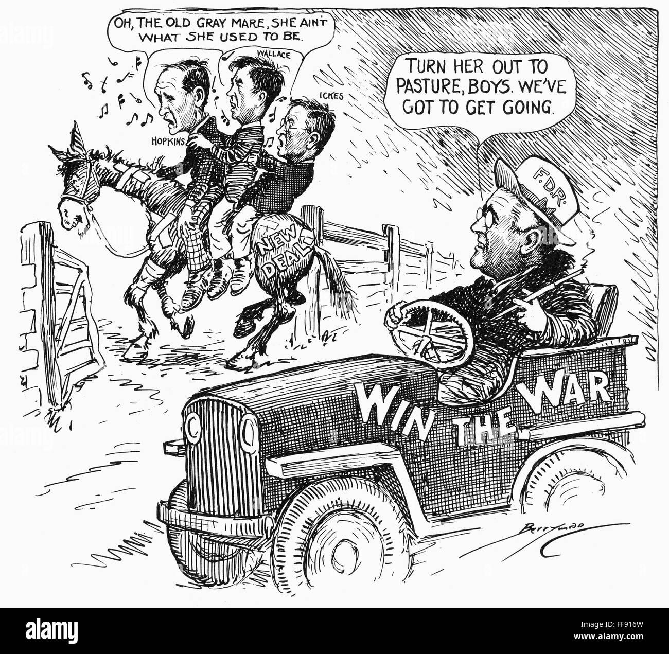 New Deal Cartoon Namerican Cartoon By Clifford