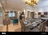 Interior design of a luxury apartment show home living ...