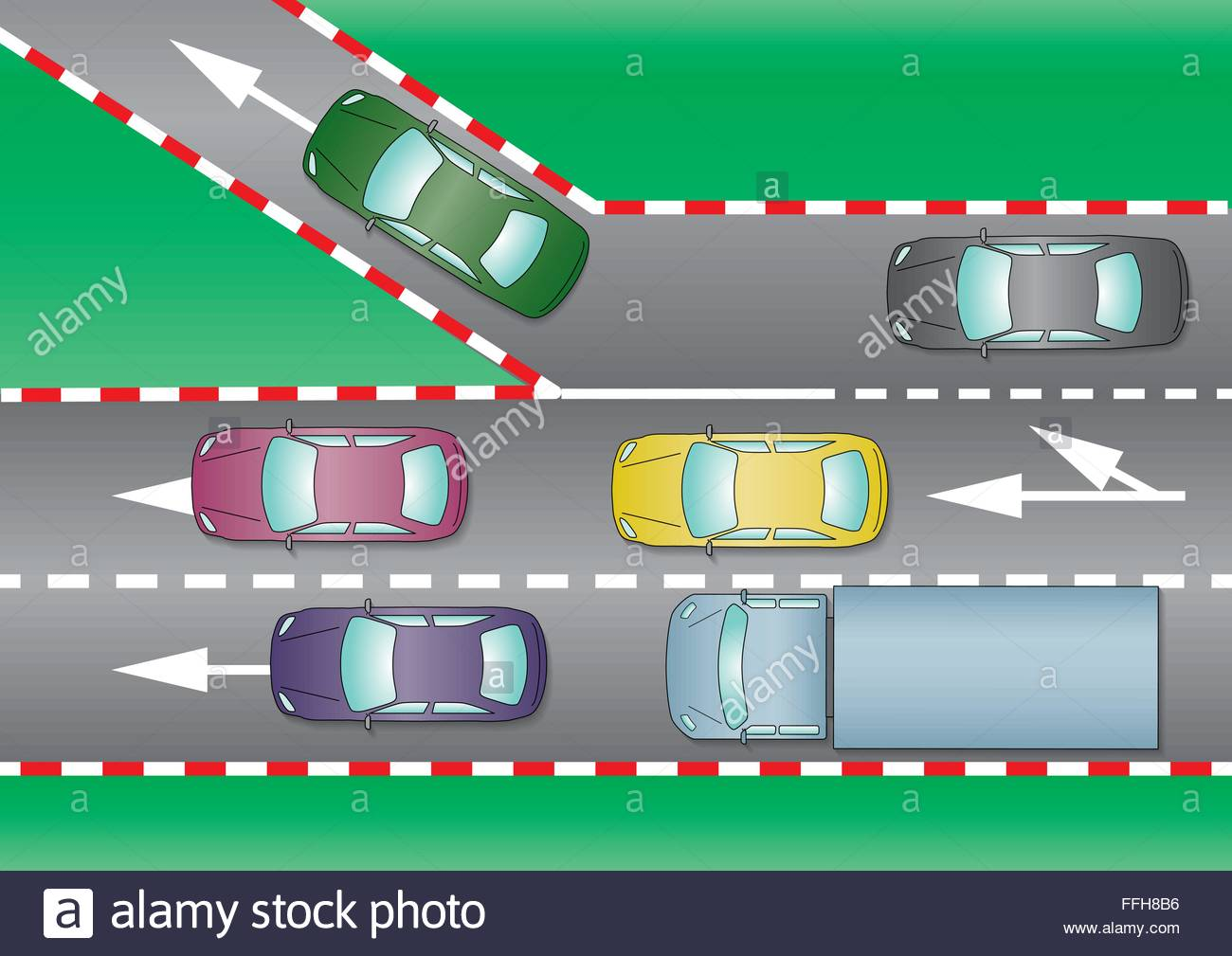 exit ramp traffic diagram msd 6al wiring deviation to other road from a highways