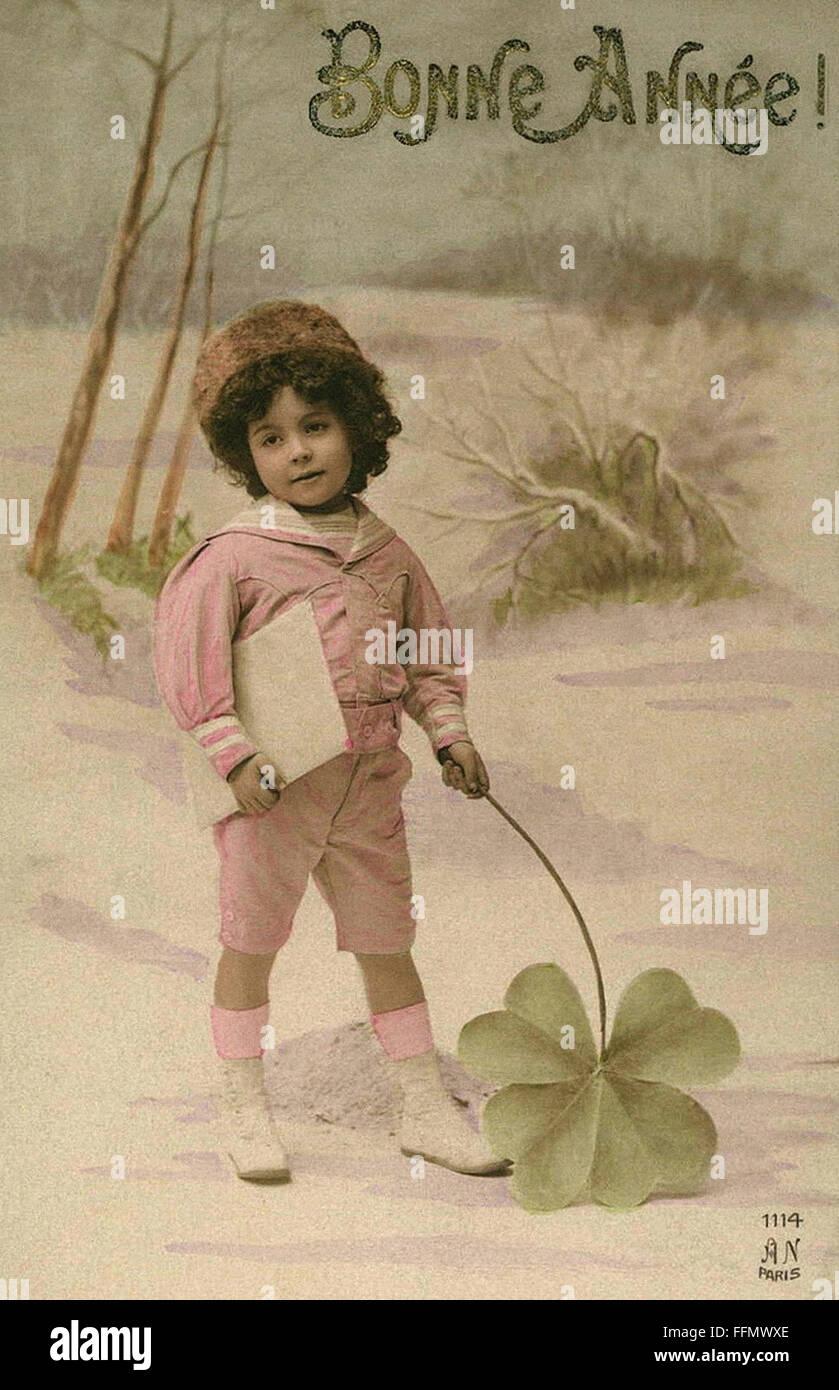 https www alamy com stock photo bonne anne sweet girl with shamrock vintage postcard 1900 95731062 html