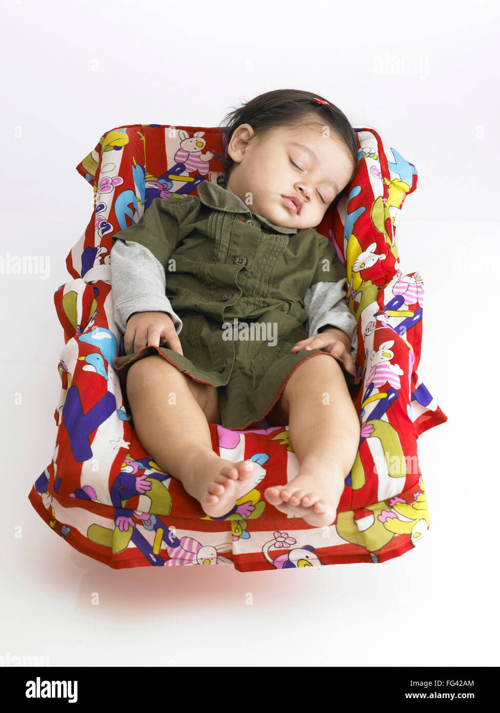 baby sleeping chair phil and teds lobster indian girl in mr 702o stock photo 95976012 alamy