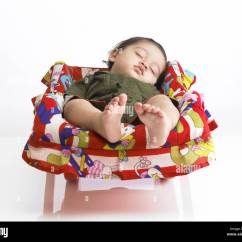 Baby Sitting Chair India Target Bean Bag Chairs Indian Girl Sleeping Stock Photos And