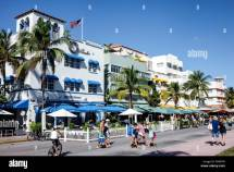 Miami Beach Florida Art Deco District Ocean Drive Year